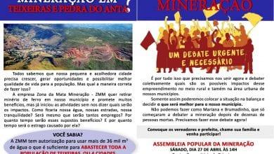 Photo of ASSEMBLEIA POPULAR IRÁ DEBATER MINERAÇÃO EM TEIXEIRAS E PEDRA DO ANTA