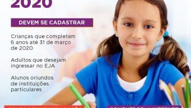 Photo of CADASTRAMENTO ESCOLAR 2020 PARA ENSINO FUNDAMENTAL COMEÇA HOJE (01)