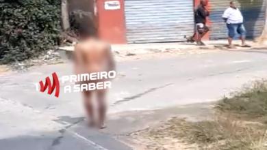 Photo of HOMEM ANDA NU POR RODOVIA E RUAS DO ROMÃO DOS REIS