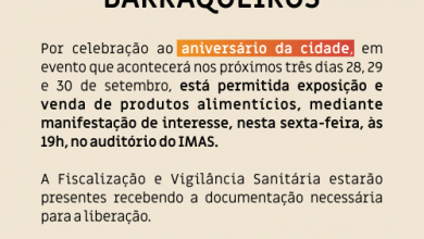 Photo of Barraqueiros interessados em vender produtos na festa da cidade devem fazer o cadastro hoje (27)