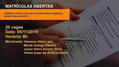 """Photo of Nudese realiza curso gratuito """"Como criar um bom currículo"""""""