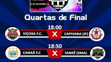 Photo of Quartas de final do regional feminino de futsal de Canaã acontecem neste sábado (16)