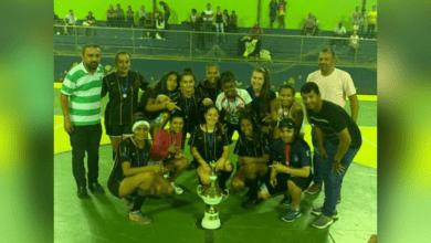 """Photo of """"Aliadas de São Miguel do Anta"""" são campeãs no regional de futsal feminino de Canaã"""